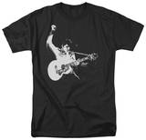 Elvis - Black & White Guitarman T-Shirt