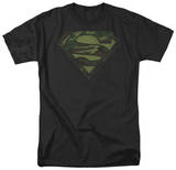 Superman - Camo Logo Distressed T-Shirt