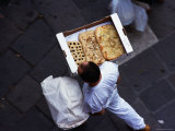 Delivering Foccacia in Venice Photographic Print by Alan Benson