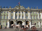 Horse and Carriage Outside Hermitage Museum Photographic Print by Roberto Gerometta