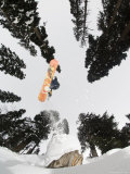 Snowboarding at Gulmarg Resort Photographic Print by Christian Aslund