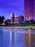 River Torrens and City Buildings at Sunset Photographic Print by Russell Mountford