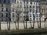 Buildings on Ile Saint-Louis Photographic Print by Jean-Bernard Carillet