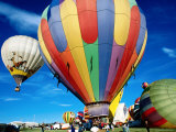 Hot Air Balloons at Annual Great Reno Balloon Race Photographic Print by Judy Bellah