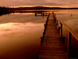 Pier at Mallacoota Inlet Photographic Print by Greg Elms