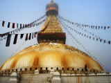 Bodhnath Stupa in Mist on Winter Morning Photographic Print by Richard I'Anson