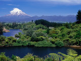 Mt. Taranaki from Lake Mangamahoe, Near New Plymouth Photographic Print by Holger Leue