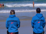 Lifeguards at Bondi Beach Photographic Print by Karl Blackwell