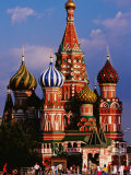 St Basil'S Cathedral on Red Square Photographic Print by Richard I'Anson