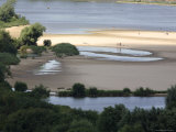 Beach on River Vistula, Wisla Seen from Castle, Kazimierz Dolny Photographic Print by David Borland