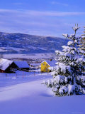Winter Snow on Houses and Valley Photographic Print by Jan Stromme