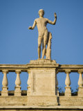 Statue Overlooking Piazza Del Campidoglio, Capitoline Hill Photographic Print by Greg Elms