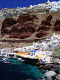 Oia Village and Port Photographic Print by Paolo Cordelli