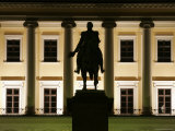 Facade of Royal Palace Det Kongelige Slott by Night Photographic Print by David Borland