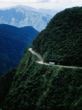 Bus Travelling the World's Most Dangerous Road Photographic Print by Craig Pershouse