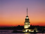 Kiz Kulesi, Uskudar Photographic Print by Izzet Keribar