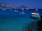 Boats Moored Off the Cala Di Luna on the Golfo Di Orosei Walk Photographic Print by Rocco Fasano