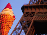 Eiffel Tower and Ice Cream Cone Photographic Print by Karl Blackwell