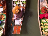 Overhead of Boats at Floating Market, Damnoen Sadoak Photographic Print by Karl Blackwell