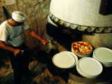 Pizzaiolo at Work at Pizzeria Trianon Photographic Print by Jean-Bernard Carillet