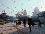 People Walking in Durbar Square Photographic Print by Richard I'Anson
