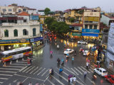 Traffic Intersection, Downtown Hanoi Photographic Print by Austin Bush