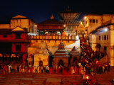 Pashupatinath Temple at Dusk Photographic Print by Richard I'Anson