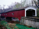 West Union Bridge, 1876, Spanning 96 Metres over Sugar Creek, Longest Bridge in Parke County Photographic Print by Charles Cook