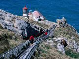 302 Steps Lead to Point Reyes Lighthouse Photographic Print by Judy Bellah