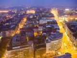 Central Belgrade at Dusk Fotografisk tryk af Greg Elms