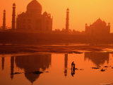 Taj Mahal and Reflection in Yamuna River Photographic Print by Paolo Cordelli