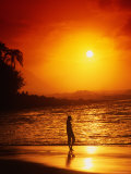Ke&#39;e Beach at Sunset Photographic Print by Linda Ching