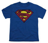 Youth: Superman - Charcoal Shield T-shirts