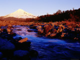 Sunset on the Western Side of Mount Taranaki Lámina fotográfica por Paul Kennedy