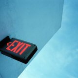 Exit Sign Photographic Print by Angus Oborn