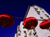 Red Lanterns and Apartment Blocks Photographic Print by Antony Giblin