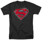 Superman - Hardcore Noir Shield T-shirts
