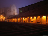 Basilica Di San Francesco in Fog at Night Photographic Print by John Hay