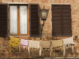 Washing Hangs Outside Apartment Window Photographic Print by James Braund