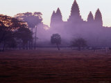 Towers of Angkor Wat in the Morning Mist Photographic Print by Ryan Fox