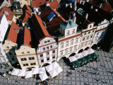 Overhead of Houses in Old Town Square from Town Hall Tower Photographic Print by Paolo Cordelli