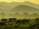 Looking at Western Hills from Edge of Inle Lake Photographic Print by Michael Gebicki