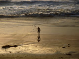 Overhead of Surfer on Redondo Beach Photographic Print by Christina Lease