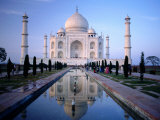 Taj Mahal Reflected in Watercourse Photographic Print by Paolo Cordelli