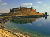Qala'at Ja'abar Citadel Jutting Out into Lake Al-Assad, Central Syria Photographic Print by Patrick Horton