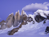 Alpenglow on Cerro Torre, from Circo De Los Altars Photographic Print by Grant Dixon