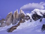Alpenglow on Cerro Torre, from Circo De Los Altars Photographic Print by Grant Dixon