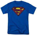 Superman - Charcoal Shield T-shirts