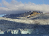 Midnight Sun on Glacier, Clouds and Mountains at Bear Fjord Photographic Print by Ralph Lee Hopkins