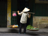 Selling Vegetables on the Street Photographic Print by Austin Bush